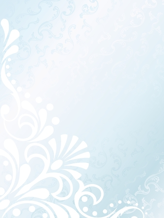 Vertical elegant white Victorian background, prefect for wedding designs. Graphics are grouped and in several layers for easy editing. The file can be scaled to any size. Vector
