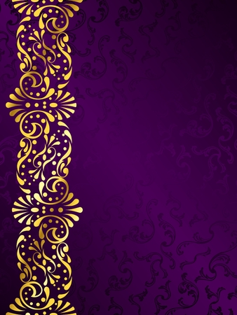 stylish vector background with a metallic victorian margin. Graphics are grouped and in several layers for easy editing. The file can be scaled to any size.