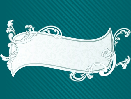 Elegant wavy Frame design inspired by French rococo style. Graphics are grouped and in several layers for easy editing. The file can be scaled to any size. Vector