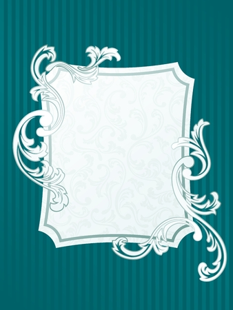 scaled: Elegant rectangular Frame design inspired by French rococo style. Graphics are grouped and in several layers for easy editing. The file can be scaled to any size.