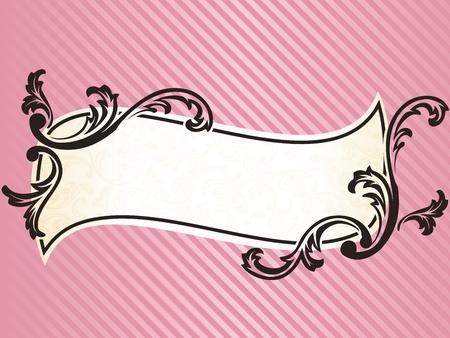 rococo style: Elegante ondulado marco dise�o inspirado en estilo rococ� franc�s. Se agrupan los gr�ficos y en varias capas para facilitar la edici�n. El archivo se puede escalar a cualquier tama�o.