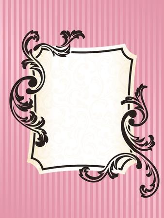 rococo style: Elegante rectangular marco dise�o inspirado en estilo rococ� franc�s. Se agrupan los gr�ficos y en varias capas para facilitar la edici�n. El archivo se puede escalar a cualquier tama�o.