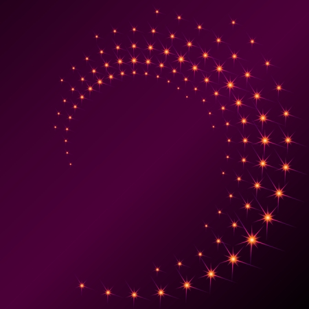 Background with a purplish spiral of sparks. Graphics are grouped and in several layers for easy editing. The file can be scaled to any size.