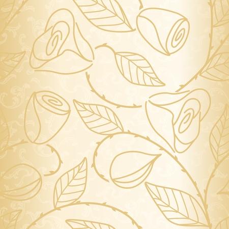 골드 손으로 그려진 된 웨딩 패턴입니다. 타일을 매끄럽게 결합 할 수 있습니다. 스톡 콘텐츠 - 6347056