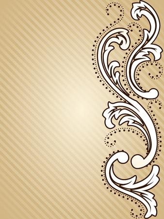 エレガントな垂直のセピア色のトーンの背景がビクトリア朝時代のデザインに触発さ。グラフィックをグループ化および簡単な編集のためのいくつ