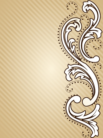 baroque border: Elegant vertical sepia tone background inspired by Victorian era designs. Graphics are grouped and in several layers for easy editing. The file can be scaled to any size. Illustration