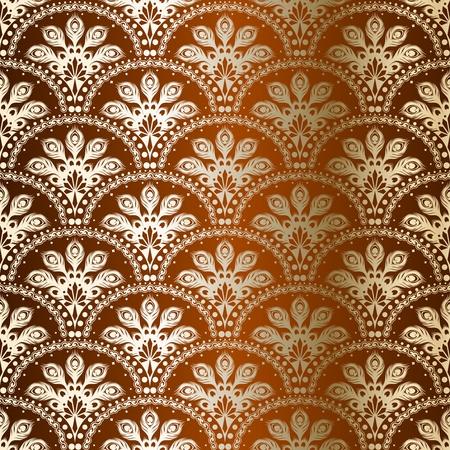 Stilvolle Hintergrund mit einem Bronze Muster inspiriert von indischen Saris.  Standard-Bild - 6568877