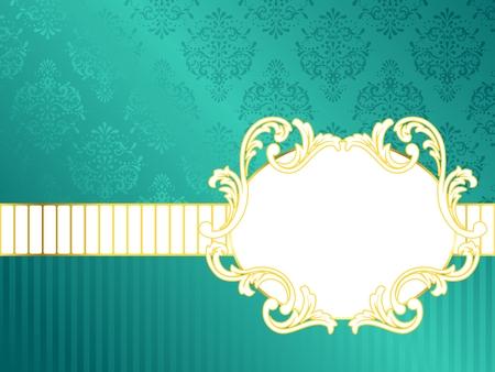 papel tapiz turquesa: Elegante oval turquesa etiqueta inspirado por los dise�os de la �poca rococ�. Se agrupan los gr�ficos y en varias capas para facilitar su edici�n. El archivo se puede escalar a cualquier tama�o.