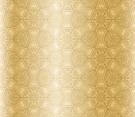 arabesque wallpaper: Senza saldatura beige modello ispirato da Arte islamica.  Vettoriali
