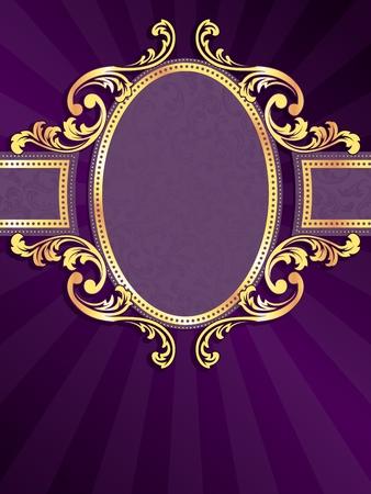 purple silk: etiqueta de color p�rpura vertical elegante con espirales met�licos. Se agrupan los gr�ficos y en varias capas para facilitar la edici�n. El archivo se puede escalar a cualquier tama�o.