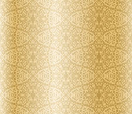 Naadloze starshaped sepia patroon geïnspireerd door islamitische kunst.  De tegels kunnen naadloos worden gecombineerd. Graphics zijn gegroepeerd en in meerdere lagen voor eenvoudige bewerking. Het bestand kan worden geschaald naar elke grootte.