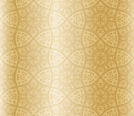 Seamless starshaped sepia pattern inspired by Islamic art.  The tiles can be combined seamlessly. Graphics are grouped and in several layers for easy editing. The file can be scaled to any size.
