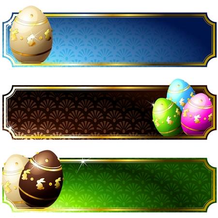 brilliant colors: Conjunto de banners de alto brillo con huevos de Pascua, en colores brillantes. Gr�ficos se agrupan y en varias capas para facilitar la edici�n. El archivo se puede escalar a cualquier tama�o.