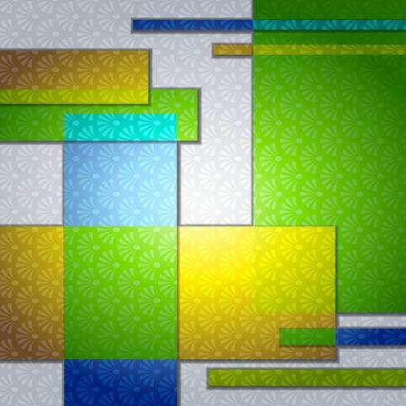 Elegante patroon achtergrond in verzadigde tinten. Graphics zijn gegroepeerd en in meerdere lagen voor eenvoudige bewerking. Het bestand kan worden geschaald naar elke grootte.