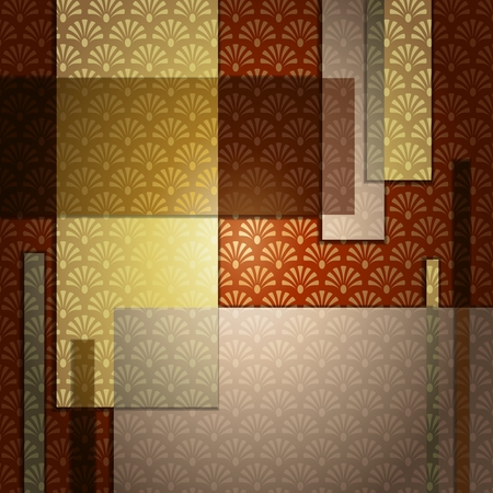 brown background: Elegant patterned background in warm brown tones. Graphics are grouped and in several layers for easy editing. The file can be scaled to any size. Illustration