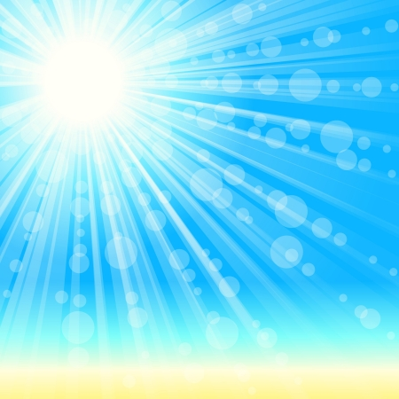 shining light: imple, elegant beach and sunshine background. Graphics are grouped and in several layers for easy editing. The file can be scaled to any size.
