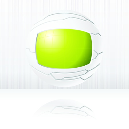 science fiction: Science fiction floating globe in green and white. Graphics are grouped and in several layers for easy editing. The file can be scaled to any size.