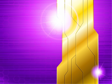 science fiction: Science fiction horizontal banner in gold and purple. Graphics are grouped and in several layers for easy editing. The file can be scaled to any size. Illustration
