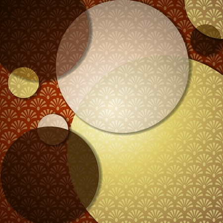 Elegant patterned background in warm brown tones. Graphics are grouped and in several layers for easy editing. The file can be scaled to any size. Ilustracja