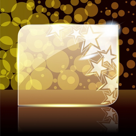 star award: Shiny glass and metal banner with stars. Graphics are grouped and in several layers for easy editing. The file can be scaled to any size.