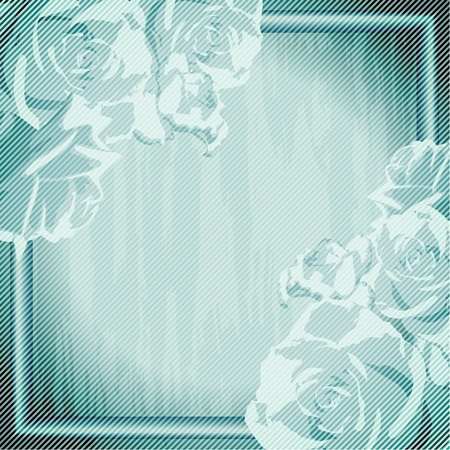 Romantic, grungy blue frame inspired by French Rococo designs. Graphics are grouped and in several layers for easy editing. The file can be scaled to any size. Stock Vector - 9825771
