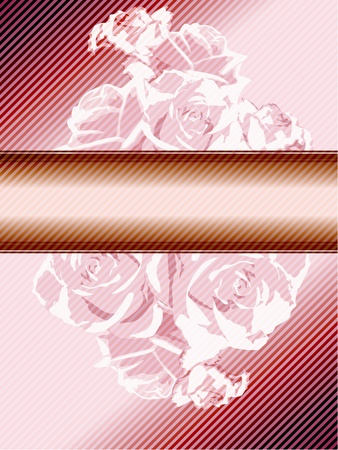 Romantic pink banner inspired by French Rococo designs. Graphics are grouped and in several layers for easy editing. The file can be scaled to any size. Vector