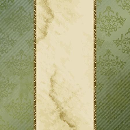 Elegant groen en bruin banner ontwerp geïnspireerd op Victoriaanse stijl. Graphics zijn gegroepeerd en in verschillende lagen voor eenvoudige bewerking. Het bestand kan worden geschaald naar elke grootte.