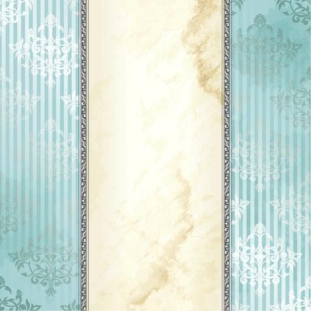 Elegante blauwe en zilveren spandoekontwerp geïnspireerd door de Victoriaanse stijl. Afbeeldingen zijn gegroepeerd en in meerdere lagen voor eenvoudige bewerking. Het bestand kan worden geschaald naar elke grootte.
