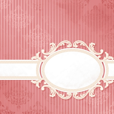 Grungy, intricate  pink and white banner design. Graphics are grouped and in several layers for easy editing. The file can be scaled to any size. Vector
