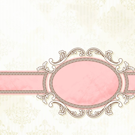 Grungy, intricate  pink and white banner design. Graphics are grouped and in several layers for easy editing. The file can be scaled to any size.