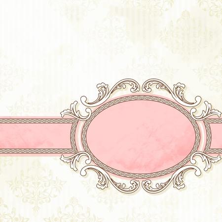 Grungy, ingewikkelde roze en wit banner design. Graphics zijn gegroepeerd en in meerdere lagen voor eenvoudige bewerking. Het bestand kan worden geschaald naar elk formaat. Stock Illustratie