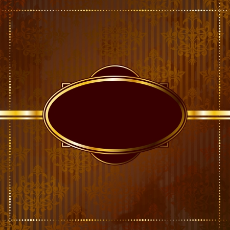 Elegant goud en bruin banner ontwerp geïnspireerd op Victoriaanse stijl. Graphics zijn gegroepeerd en in verschillende lagen voor eenvoudige bewerking. Het bestand kan worden geschaald naar elke grootte. Stock Illustratie