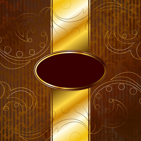 gold brown: Elegant gold and brown banner design inspired by Victorian style. Graphics are grouped and in several layers for easy editing. The file can be scaled to any size.
