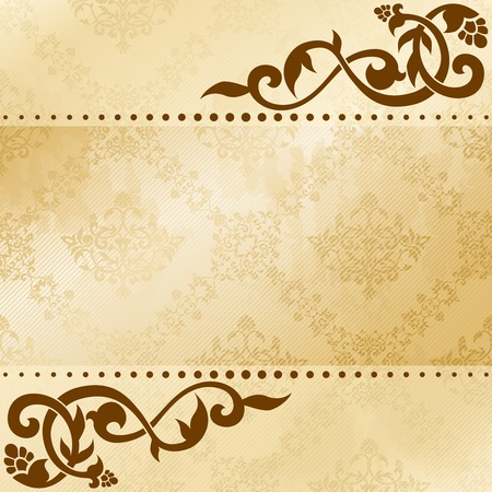 Elegant satiny floral arabesque background. Graphics are grouped and in several layers for easy editing. The file can be scaled to any size. Vector