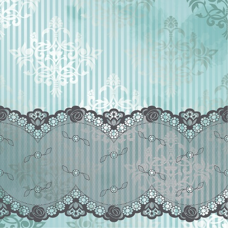 Black French lace design on blue background  Graphics are grouped and in several layers for easy editing  The file can be scaled to any size