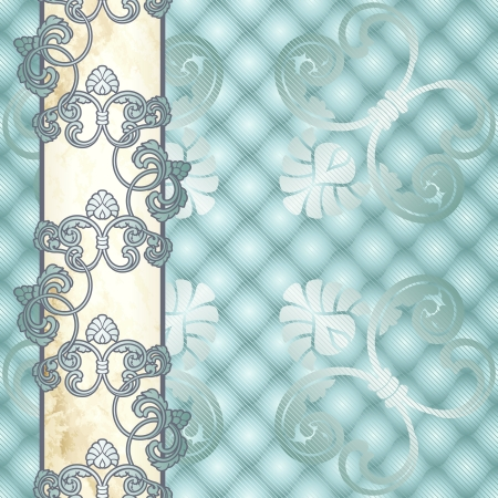 Elegant pale blue background inspired by Rococo era designs. Graphics are grouped and in several layers for easy editing. The file can be scaled to any size. Stock Vector - 14653436