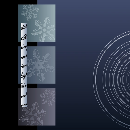 wintry: Background in wintry colors, with decorative snowflakes.