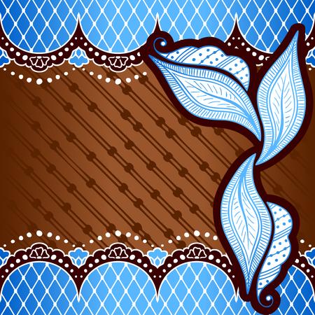 手描きデザイン ブルーおよび青銅の背景
