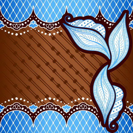 Blue and bronze background with hand drawn designs Illustration