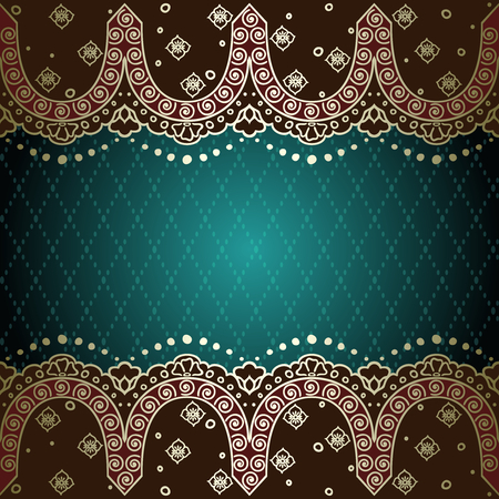 Muted elegant green background with hand drawn designs Stock fotó - 27418767
