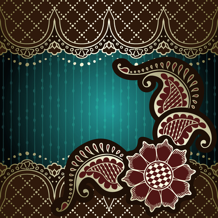 Muted elegant green background with hand drawn designs Stock fotó - 27418771