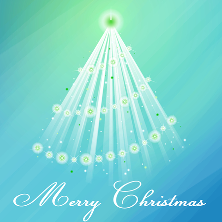 scaled: Pale blue-green Christmas season illustration with sparkles and transparencies. Graphics are grouped and in several layers for easy editing. The file can be scaled to any size. Illustration