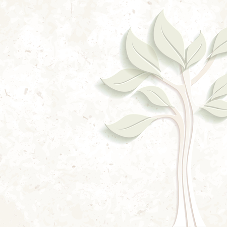 Elegant pastel environmental design on coarse paper. Graphics are grouped and in several layers for easy editing. The file can be scaled to any size. Ilustrace