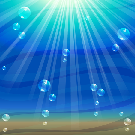scaled: Simple, elegant underwater background. Graphics are grouped and in several layers for easy editing. The file can be scaled to any size.