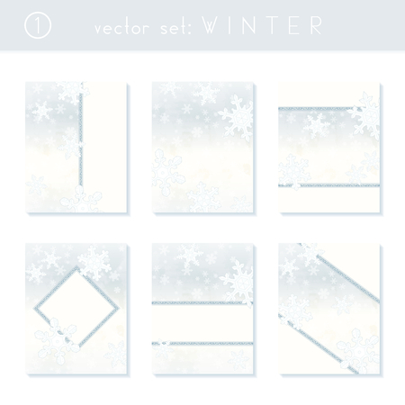 Set of blue and silver winter banners inspired by Victorian style. Graphics are grouped and in several layers for easy editing. The file can be scaled to any size. Reklamní fotografie - 65635097