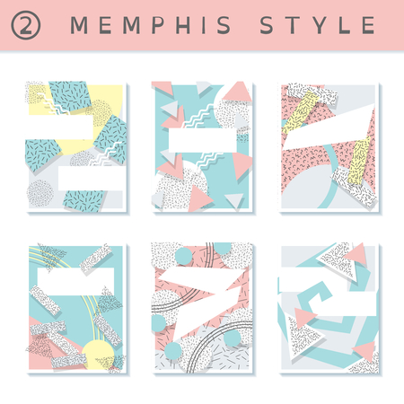 squiggles: 6 pastel colored memphis style covers with geometric shapes. US Letter size. Easily croppable to A4 size. Graphics are grouped and in several layers for easy editing. The file can be scaled to any size.