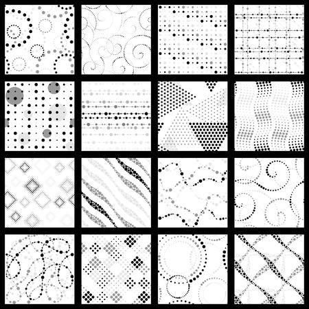 16 elegant grey scale patterns Reklamní fotografie - 95040680