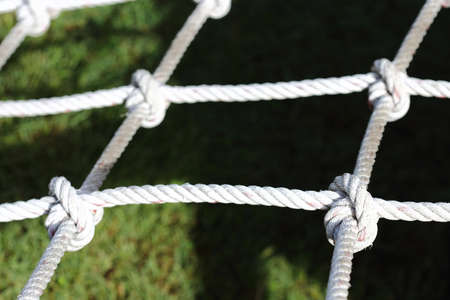cut through the maze: 4 Nylon Rope Knots four ways, difficult hard to solve, black background