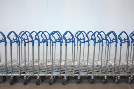 repetition: Repetition of trolley Stock Photo