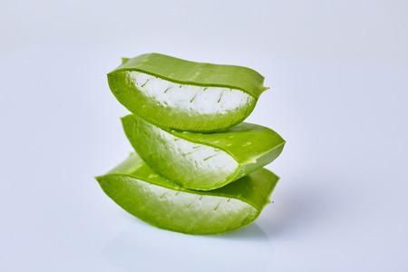 aloe barbadensis: Slice Aloe Vera (Aloe barbadensis Mill.,Star cactus, Aloe, Aloin, Jafferabad or Barbados) a very useful herbal medicine for skin care and hair care.